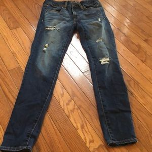 American eagle ripped jeans/ jegging
